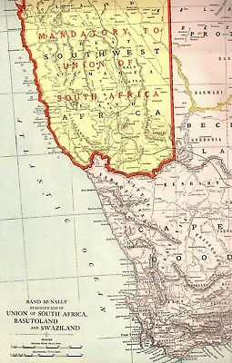 c1920 Antique SOUTH AFRICA Map Uncommon RARE SIZE Vintage Map of South Africa