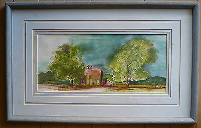 $195 Or Best!! Melody Mcconaughy, Watercolor Southwestern Landscape Colorful Wow