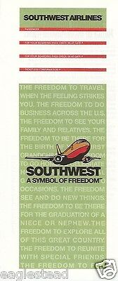 Ticket Jacket - Southwest - B737 - Symbol Freedom - Green - 1997 (J1486)