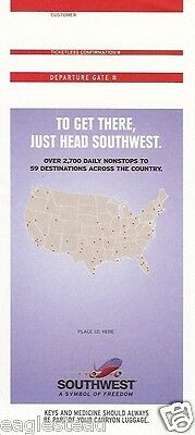 Ticket Jacket - Southwest - To Get There - US Map - 2003 (J1497)