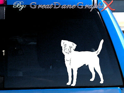 Border Terrier Vinyl Decal Sticker / Color Choice - HIGH QUALITY