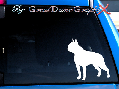 Boston Terrier - Vinyl Decal Sticker / Color Choice - HIGH QUALITY