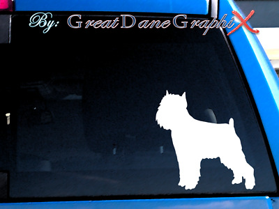 Brussels Griffon #2 Vinyl Decal Sticker / Color Choice - HIGH QUALITY