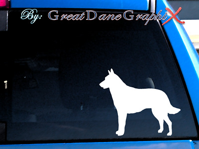 Belgian Malinois Vinyl Decal Sticker / Color Choice - HIGH QUALITY