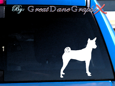 Basenji #2 Vinyl Decal Sticker / Color Choice - HIGH QUALITY