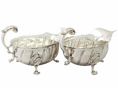 Sterling Silver Sauceboats by Daniel & John Welby - Antique Victorian