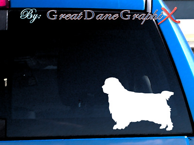 Clumber Spaniel Style - Vinyl Decal Sticker / Color Choice - HIGH QUALITY