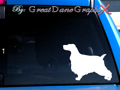English Cocker Spaniel - Vinyl Decal Sticker / Color Choice - HIGH QUALITY