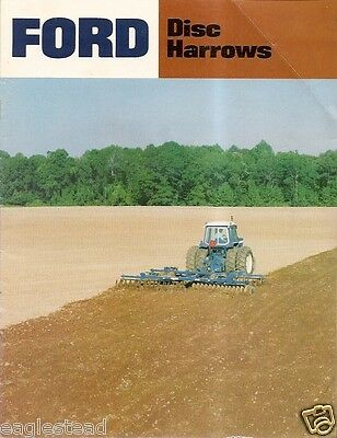Farm Implement Brochure - Ford - 201 et al - Disc Harrow - 1980 (F1487)