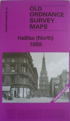 Old Ordnance Survey Maps Halifax North 1889 Coloured Edition Godfrey Edition New