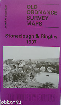 Old Ordnance Survey Map Stoneclough & Ringley near Stand 1907 S95.07 Brand New