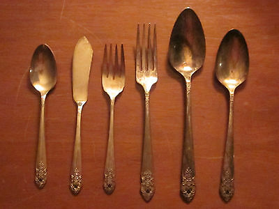 Vintage Oneida Prestige Plate Silverplate Mixed Lot 1951 'distinction' Pattern
