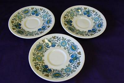 "ROYAL DOULTON CHINA EVERGLADES SAUCERS 6"" - SET OF 3"