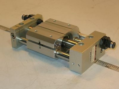 """New SMC NCDY2S15H-0200B Pneumatic Rodless Cylinder, 5/8"""" Bore, 2"""" Stroke"""