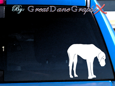 Great Dane #4 Vinyl Decal Sticker / Color Choice - HIGH QUALITY