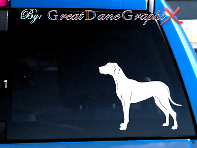 Great Dane #5 Vinyl Decal Sticker / Color Choice - HIGH QUALITY