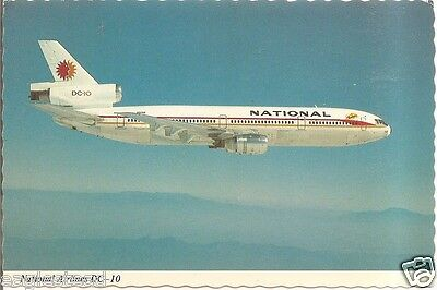 Airline Postcard - National - DC-10 - N60NA - Nice sculpted edge (PC328)