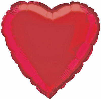 """18"""" Red Heart Foil Helium Balloon Engagement Wedding Day Party Decorations"""