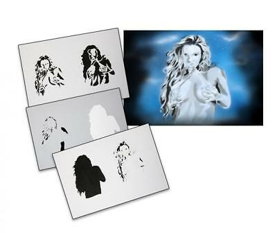 Step by Step Airbrush Stencil AS-089 ~ Template ~ UMR-Design