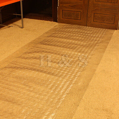 Heavy Duty Vinyl Plastic Carpet Protector Runner Office Hallway Film Mat Roll