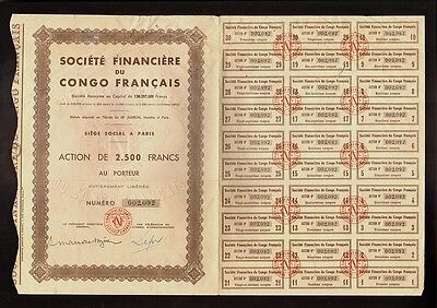 AFRICA   Soc. Financiere du Congo Francais Paris France