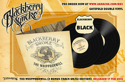 "Blackberry Smoke ""The Whippoorwill"" 2x12"" Black Vinyl w/ 3 Bonus Tracks!"