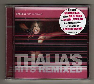 Thalia - THALIA'S HITS REMIXED - CD LIMITED EDITION USA - SEALED MINT