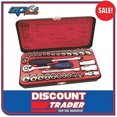 "SP Tools Socket Set 3/8"" Drive 12 Point 32 Piece Metric/SAE - SP20200"