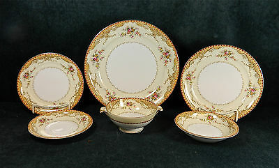 """53-Pieces (Or Less) Of Beautiful Meito """"derby"""" Pattern Fine Japanese China"""