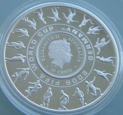 2006 The Official Commemorative Silver $1 Coin Fifa World Cup Germany