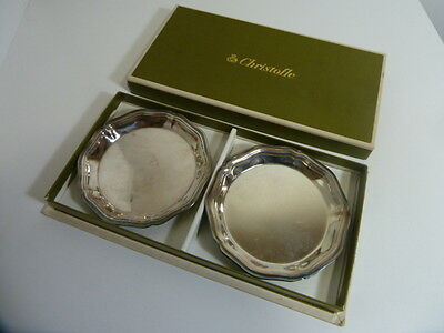 Christofle Contours 2 Ash-Trays  - New In Box