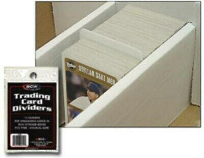 Lot / 360 BCW Tabbed White Baseball Trading Card Dividers 2 11/16 X 3 13/16
