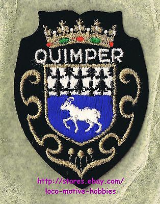 LMH PATCH Felt Badge  QUIMPER  Commune Capital Coat Arms  KEMPER Brittany FRANCE