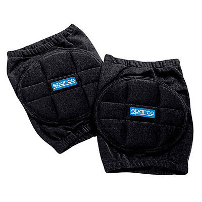 Sparco Black Elbow/Knee Pads/Protection For Kart/Karting/Mechanics