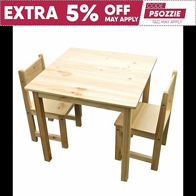 Children's Table and Chairs Square Kids Table & 2 Chairs WOOD