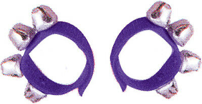 DXP Percussion Wrist Bells Purple Pair *NEW* 4 bells on a strap with Velcro ends
