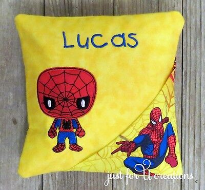Boy's Personalized Embroidered Spiderman Boy Design Tooth Fairy Pillow