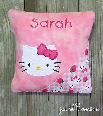 Girl's Personalized Embroidered Hello Kitty Face Design Tooth Fairy Pillow
