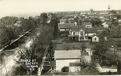 RPPC NY Sackets Harbor Broad Street from the Tower North