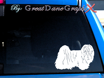 Lhasa Apso - Vinyl Decal Sticker / Color Choice - HIGH QUALITY