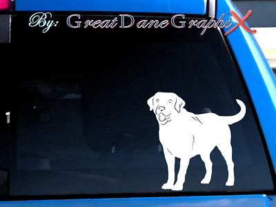 Labrador Retriever #3 - Vinyl Decal Sticker / Color Choice - HIGH QUALITY