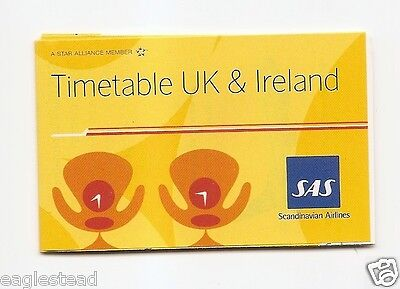 Airline Timetable - SAS - 07/04 - UK Ireland Ed. - S