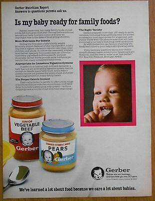 1983 original AD baby ready for family foods? Gerber