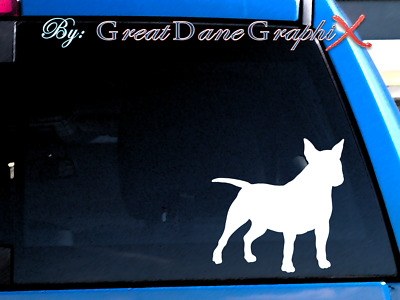 Miniature Bull Terrier #1 Vinyl Decal Sticker / Color Choice - HIGH QUALITY