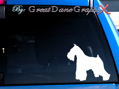 Miniature Schnauzer Vinyl Decal Sticker / Color Choice - HIGH QUALITY