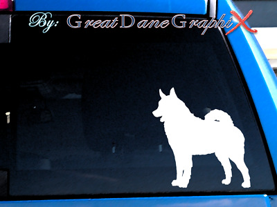 Norwegian Elkhound Vinyl Decal Sticker / Color Choice - HIGH QUALITY