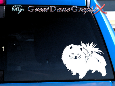 Pomeranian #2 Vinyl Decal Sticker / Color Choice - HIGH QUALITY