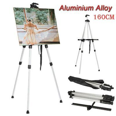 New Tripod Display Exhibition Art Artist Adjustable Folding Easel White +Bag