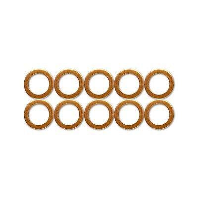 10x M10 Standard Copper Washers for HEL Braided Clutch Brake Hoses stainless