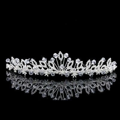 Bridal Rhinestones Crystal Prom Wedding Floral Crown Tiara 71002
